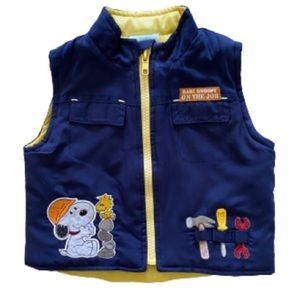Baby Snoopy Baby Boys Blue & Yellow Vest